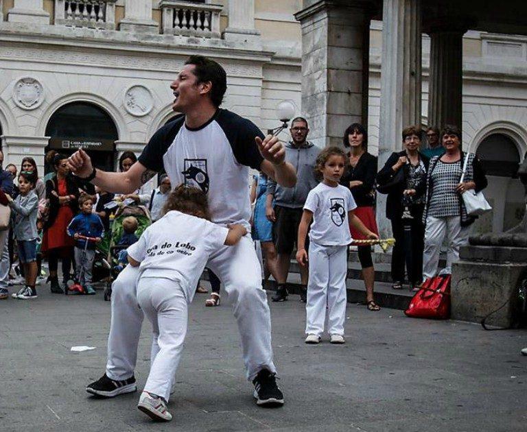 Presentazione di capoeira bambini a Padova